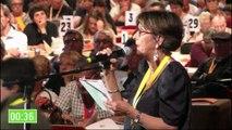 """Congrès PCF 2016 - Aline Flaux - """"En cet anniversaire du Front Populaire, des noms de députés resonnent à nos oreilles"""""""