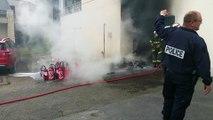Incendie au CFA FIM d'Agneaux, près de Saint-Lô (Manche)