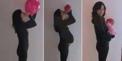Hamileliğini Bir Balonla En Acayip Şekilde Anlatan Yaratıcı Kadın