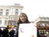 Libyan protes in London child idea about Gadaffi 29-03-2011