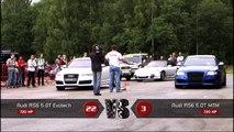 Moscow Unlim 500: Audi RS6 Evotech vs Audi RS6 MTM