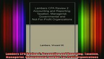 DOWNLOAD FREE Ebooks  Lambers CPA Review 2 Accounting and Reporting Taxation Managerial Governmental and Full Free