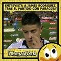 Internautismo entrevista a james rodriguez despues del partido a paraguay parodia