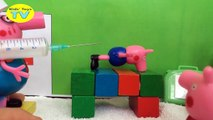 Peppa Pig gets a shot visit hospital Doctors case George pig crying New video for kids 20
