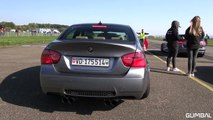 BMW M3 E90 w/ SuperSprint Exhaust vs BMW M3 E92 G-POWER!