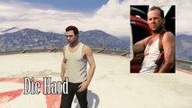 GTA 5 Online Outfits (Supergirl, Punisher & Die Hard)