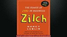 READ book  Zilch The Power of Zero in Busines  BOOK ONLINE