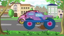 Trucks Cartoon for children. Tow Truck with Little Pink Car. Trucks & Diggers. Vehicles for kids
