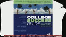 favorite   College Success Guide Top 12 Secrets for Student Success