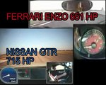 NISSAN GT-R vs FERRARI ENZO. 100-300 kmh in 22 seconds.