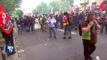 Manifestation contre la loi Travail: violents affrontements en tête de cortège