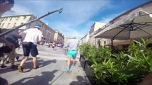 Video of Russian football hooligans' violence in Marseille