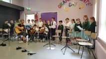 St Patrick's P.S. Year 5 singers and guitarists perform Morning has Broken at End of Year Concert 13.06.16