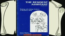 best book  The resident assistant Working with college students in residence halls