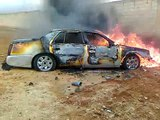 اقتحام بلدة الجيزة وحرق السيارات 28\2\2012