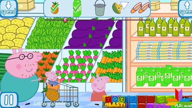 Peppa Pig Shopping   Full Game play   Best iPad app demo for kids