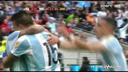 Ezequiel Lavezzi second Goal ~  Argentina vs Bolivia 3-0