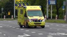 Ambulance 17-165 met spoed naar Capelle aan den IJssel + spoed naar EMC