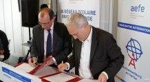 Signature de convention de partenariat entre l'AEFE etTV5MONDE