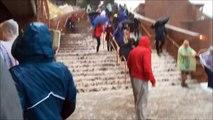 Trombes d'eau et grêle dans le colorado - Red Rocks Amphitheatre