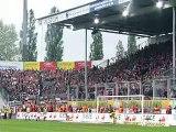 FC Energie Cottbus - 1.FC Union Berlin Stimmung im Gästeblock