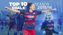 FCB Femení: FC Barcelona Women best goals - Season 2015/16