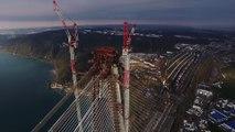 Istanbul : installation des haubans du pont Yavuz Sultan Selim