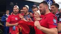 Les supporters albanais enflamment le Prado