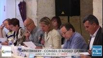SAINT-THIBERY - AGGLO CAHM - 2016 - ( 2 ° partie )  Retour en VIDEO sur le CONSEIL D'AGGLOMERATION du LUNDI 13 JUIN 2016