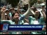 26FEB 1614 TV8 ENFERMERAS DEL MINSA ANUNCIAN PARO NACIONAL PARA EL 20 DE MARZO