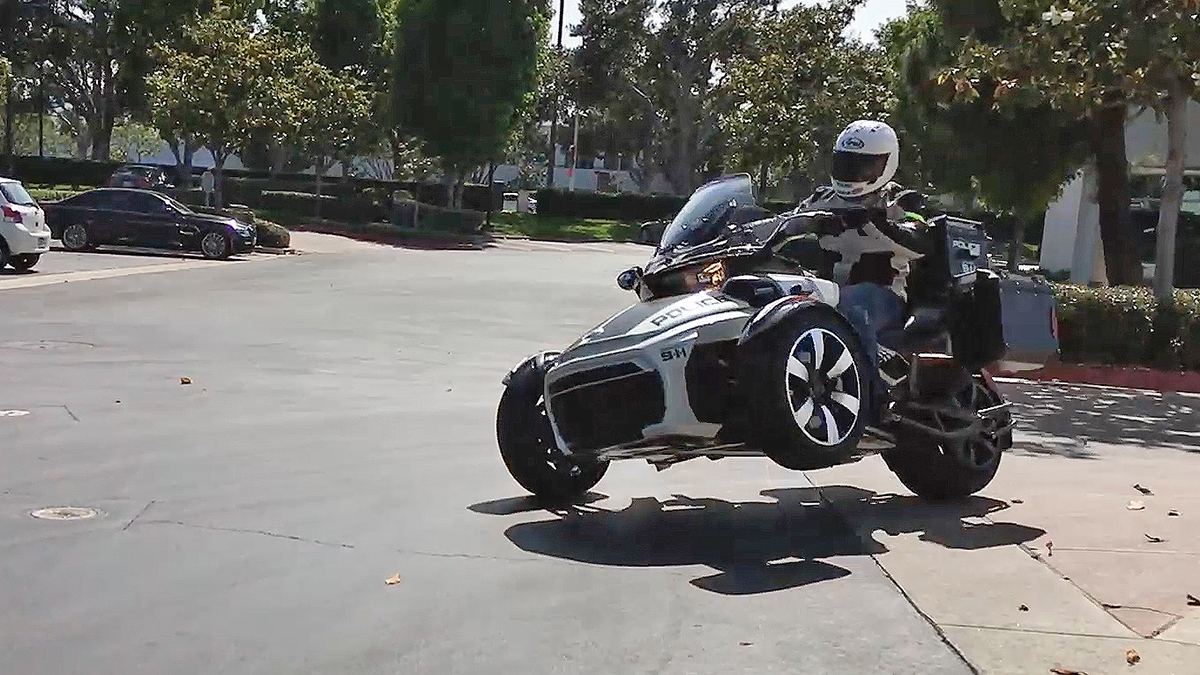 WILD FILE: Police-Edition Can-Am Spyder F3-P