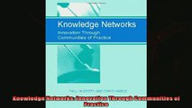 Enjoyed read  Knowledge Networks Innovation Through Communities of Practice