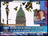 CN23 - MEDIODÍA 23 - OPOSITORES DICEN QUE DEROGARÁN LEYES DEL CONGRESO