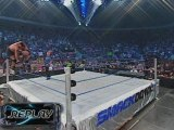 WWF - Brock Lesnar and Big Show Collapse Ring With Replays (