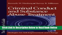 Read Criminal Conduct and Substance Abuse Treatment: Strategies for Self-Improvement and Change -