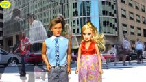 Barbie is pregnant with twins and gives a birth Visit hospital funny video with disney dol