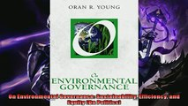 Enjoyed read  On Environmental Governance Sustainability Efficiency and Equity On Politics
