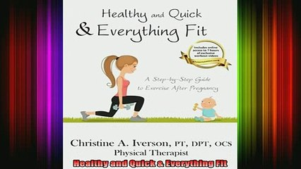 READ book  Healthy and Quick  Everything Fit Full Free