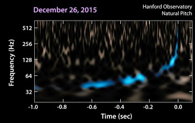 Two different  chirps  of gravitational waves produced by black holes
