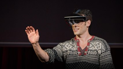 A glimpse of the future through an augmented reality headset   Meron Gribetz