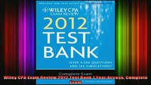READ book Wiley CPA Exam Review 2012 Test Bank 1 Year Access