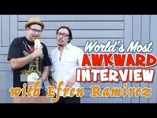 World's Most Awkward interview with Efren Ramirez (Pedro from Napoleon Dynamite)