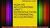 READ book  AQA AS Accounting Unit 1 Introduction to Financial Accounting Full EBook