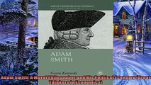 Popular book  Adam Smith A Moral Philosopher and His Political Economy Great Thinkers in Economics
