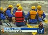 Continúa la búsqueda de los cuerpos de los niños desaparecidos en el río Quijos