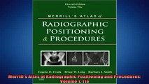 Free PDF Downlaod  Merrills Atlas of Radiographic Positioning and Procedures Volume 1 11e  BOOK ONLINE
