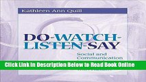 Read Do-Watch-Listen-Say: Social and Communication Intervention for Children with Autism  Ebook