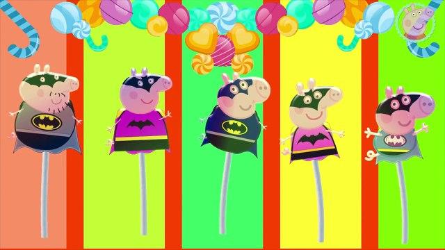 Peppa Pig Lollipop Batman Finger Family   Nursery Rhymes Peppa Pig TV