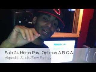Arcangel En El Estudio Faltan 24 Horas Pa Optimus Arca @Alqaedas Estudio