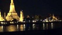 July2012 Bangkok Trip (26): Bangkok: Wat Arun in the darkness beyond Chao Phraya River
